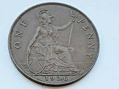£0.99 • Buy 1936  King GEORGE V ONE Penny  Coin GOOD DETAILS