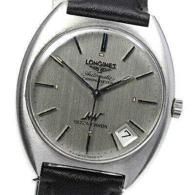 £379.39 • Buy LONGINES Ultra-chron Date Cal.6652 Silver Dial Automatic Men's Watch_620941