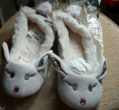£5 • Buy Next Womens Bunny Shimmery Slippers New Size 4