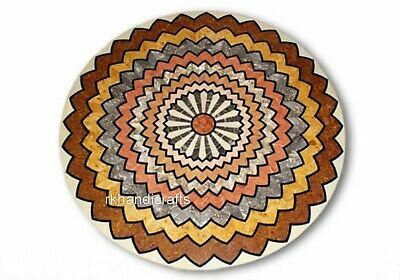 AU2097.01 • Buy 36 Inches Marble Dining Table Top Hand Made Coffee Table With Geometrical Art