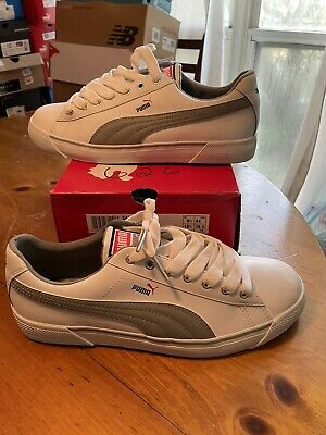 AU100.22 • Buy DS PUMA BENNY L White Gray Black Red 349505-02 Size 10.5 New In Box! BASKETS