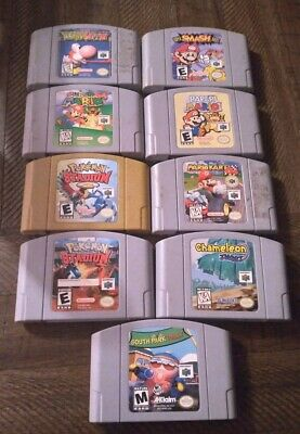 $ CDN470.64 • Buy N64 Game Lot 9 Games Mario Pokemon Authentic Tested