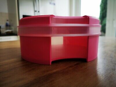 £17 • Buy Genuine Tupperware Large Round Pink Closed Bowl Container Storage Box New