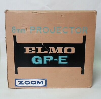 $ CDN68.95 • Buy Vintage ELMO GP-E Zoom Dual-8 Projector 8mm With Instruction PAT Tested  Working