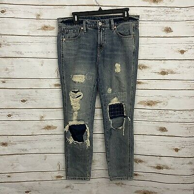 £21.72 • Buy BDG Urban Outfitters Distressed Low Rise Slim Boyfriend Jeans Size 27