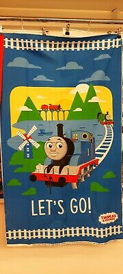 £9.99 • Buy Blue Thomas The Tank Engine Cotton Panel For Sewing Quilting Blanket Project