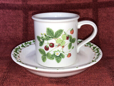 £3.50 • Buy Portmeirion Coffee Cup & Saucer, Summer Strawberries
