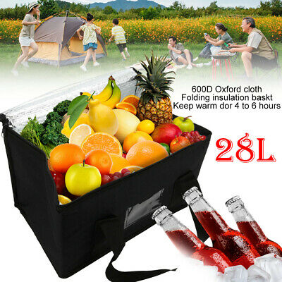 £6.79 • Buy 28l Extra Large Cooling Cooler Cool Bag Box Picnic Camping Food Ice Drink Lunch