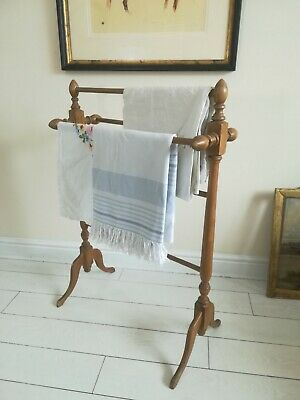 £195 • Buy Antique Pine Towel Rail Freestanding Quality C1890 Victorian Delivery Available