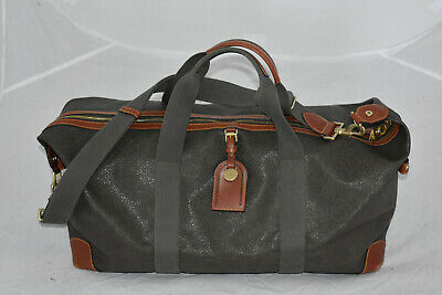 £625 • Buy Mulberry Khaki Green Scotchgrain Leather Zip Large Holdall Weekend Carry Bag
