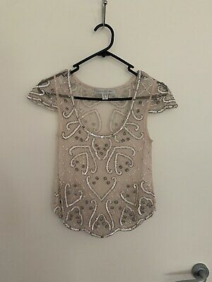 AU20 • Buy Forever New Sequin Top Size 6
