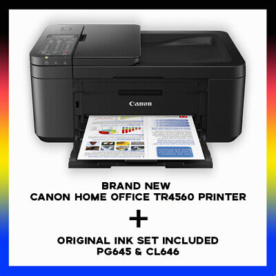AU157.80 • Buy Canon Home Office TR4560 Multifunction Wi-Fi Printer+FAX+ADF + STARTER INK SET