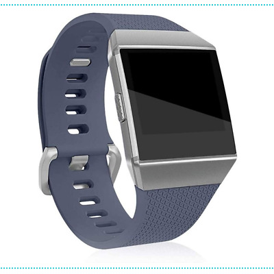 AU20.50 • Buy Watch Band Fitbit Ionic Replacement Strap Wristband Silicone Soft Large Grey