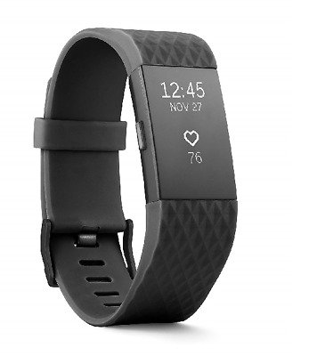 $ CDN113.22 • Buy Fitbit Charge 2 Heart Rate + Fitness Wristband, Activity Tracker, Black, L/G