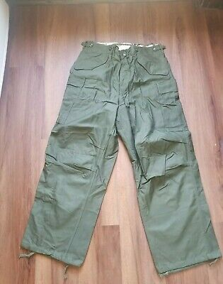 $105 • Buy Vintage Rare NOS M-1951 Shell Field Trousers Military Cargo Pants MEDIUM