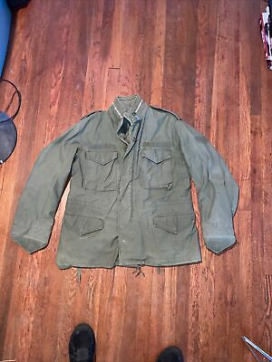$19.99 • Buy Vintage US Army Military M65 Cold Weather Field Jacket See Measurements M-L?