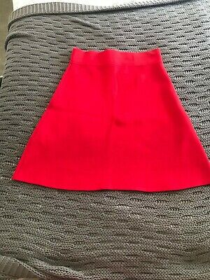 £8 • Buy Reiss Lipstick Red Thick Stretch Jersey Mini Skirt, UK8, Great Condition