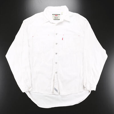 £21.95 • Buy Vintage LEVI?S White 00s Long Sleeve Casual Shirt Mens XL