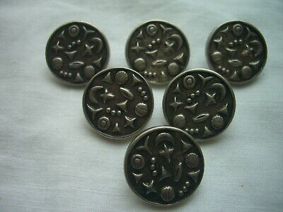 £2.50 • Buy PEWTER EFFECT SHAPES  DESIGN METAL SHANK  BUTTONS  X 6 FREE P&P