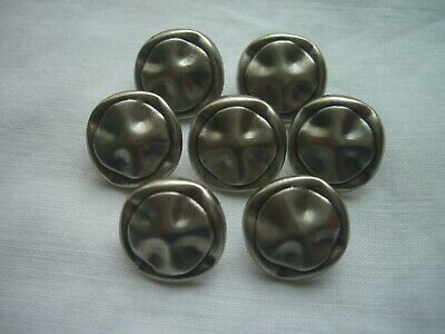 £2.50 • Buy PEWTER EFFECT SQUARE SHAPED, CROSS  DESIGN METAL SHANK  BUTTONS  X 7 FREE P&P