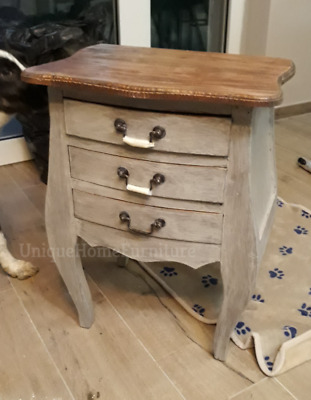 £149.90 • Buy Vintage Bedside Table Antique French Cabinet 3 Drawers Storage Stand Furniture