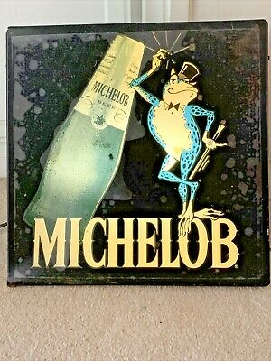 $ CDN37.09 • Buy Vintage MICHELOB Beer COQUI FROG Lighted Beer Sign 1980's RARE Anheuser Busch