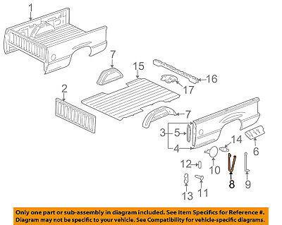 £57.11 • Buy GM OEM Pick Up Box Bed-Front Brace Right 15711212