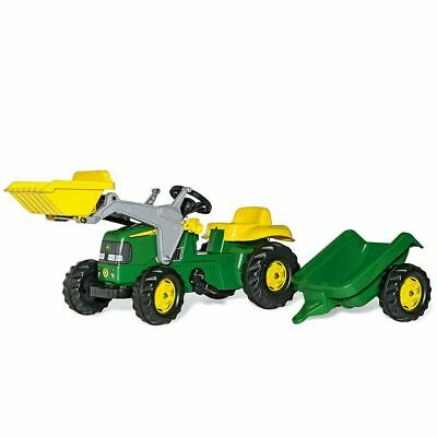 £117.90 • Buy Rolly Toys John Deere Tractor Pedal Ride On With Front Loader And Trailer