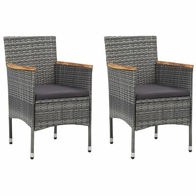 AU179.95 • Buy Outdoor PE Rattan Chair Set 2 Pc Patio Dining Seat With Cushion Modern Furniture