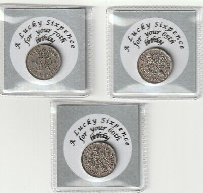 £2.29 • Buy 2021 Birthdays Lucky Special Birth Year  Sixpence 60th 65th & 70th Birthday Gift