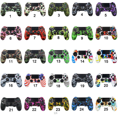 AU7.34 • Buy PS4 Patterned Silicone Controller Cover 49 Styles Protective Skin Case From U.K