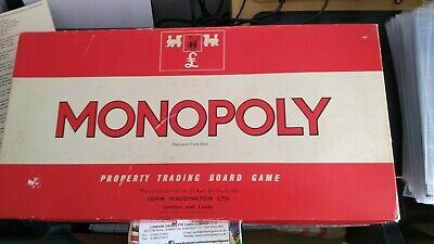 £5.99 • Buy Monopoly Board Game Classic Red Box Waddington's Vintage 1972