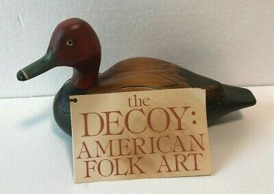 $99.99 • Buy The Decoy Shop Drake Redhead Wooden Duck Hand Carved Painted Freeport Maine 1984