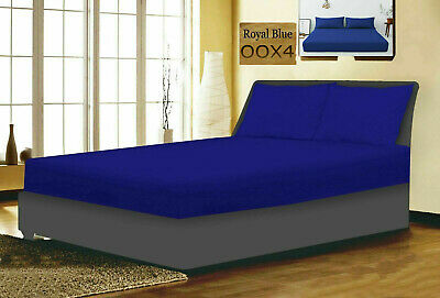 £7.95 • Buy 40CM EXTRA DEEP Fitted Sheet Single Double Super King Bed Size OR Pillow Covers
