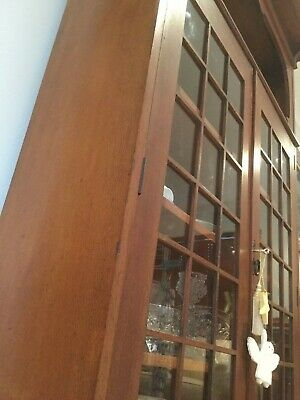 AU1600 • Buy Antique Trittons Solid Silky Oak Bookcase / China Cabinet