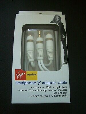 £1.69 • Buy   Y ADAPTER / SPLITTER CABLE  3.5mm  Male To 2 X 3.5mm FEMALE JACKS NEW FREE P&P
