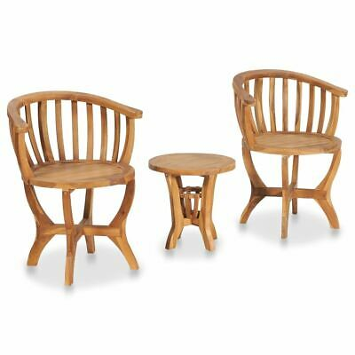 AU257.95 • Buy Stylish Bistro Set Garden Table And Chairs Teak Wood Outdoor Furniture 3 Pcs