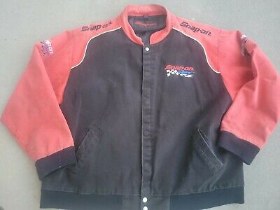 $ CDN50.14 • Buy SNAP ON Authentic Apparel Snap On Racing Jacket Size Xl Black Red