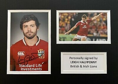 £49.99 • Buy Leigh Halfpenny Hand Signed British & Irish Lions Photo In A4 Mount Display