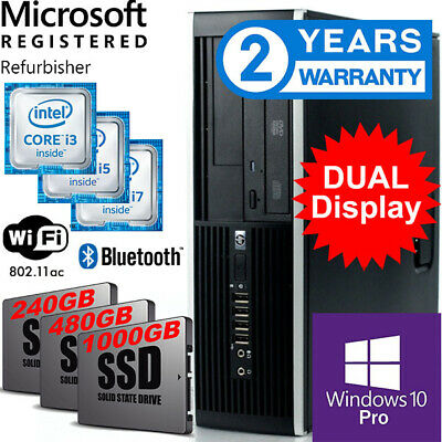 AU349 • Buy Hp Pc, Super Fast Ssd +auto Backup Hdd. Win 10 Pro, Wifi & B/tooth, 2 Year Wrnty
