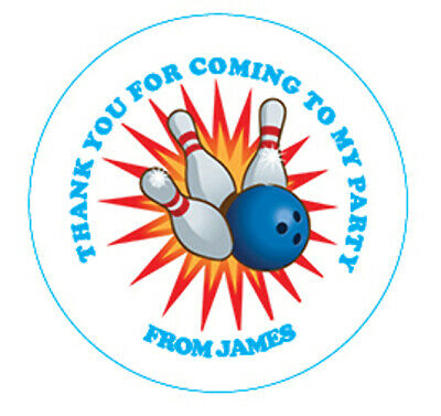 £1.30 • Buy Bowling Birthday Party Sticker, Thank You, Sweet Cone Labels 12,15 Or 35