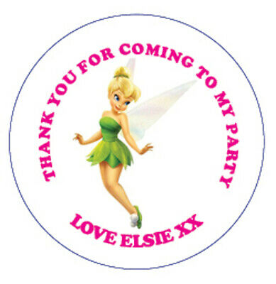 £1.30 • Buy Tinkerbell Birthday Party Sticker, Thank You, Sweet Cone Labels 12,15 Or 35