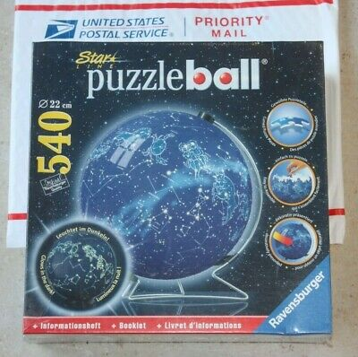 $55.95 • Buy NEW Ravensburger Star Line Celestial Map Puzzle Ball 3D 540 Pieces Glows In Dark