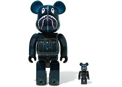 $1499 • Buy BEARBRICK BAPE LEVIS 100% And 400% Set BE@RBRICK - RARE SOLD OUT COLLECTABLE