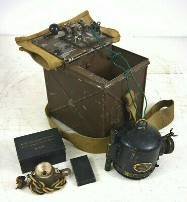 £85 • Buy British Army Signal Lamp Box With Morse Key & Accessories Tins