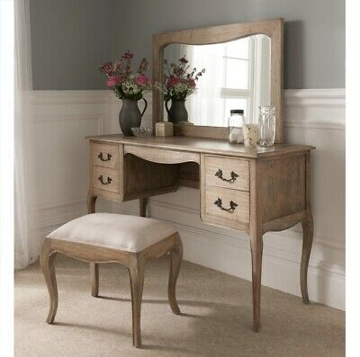 £600 • Buy French Style Dressing Table Set With Mirror And Stool, Solid Wood, New