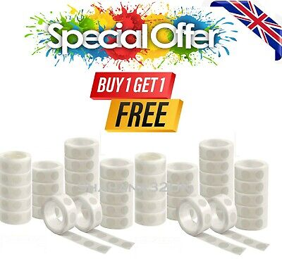 £2.99 • Buy 100 Adhesive Dots Tape Double Sided Glue Sticky  Sticker DIY Balloon Clear Decor
