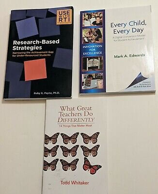 £9.39 • Buy Lot Of 3 Teacher Books - Education Schools Learning Teaching Students