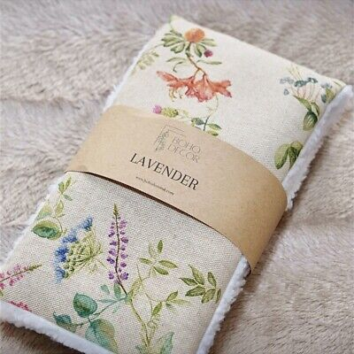 £12 • Buy Handmade Wheat Bag Heat Pack Lavender Unscented Pain Relief - Floral