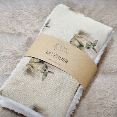 £12 • Buy Handmade Wheat Bag Heat Pack Lavender Unscented Pain Relief - Bunny